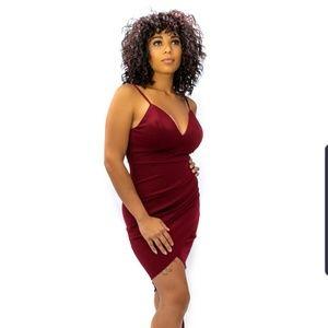Dresses & Skirts - Penelope Spaghetti Bodycon Dress- Burgundy